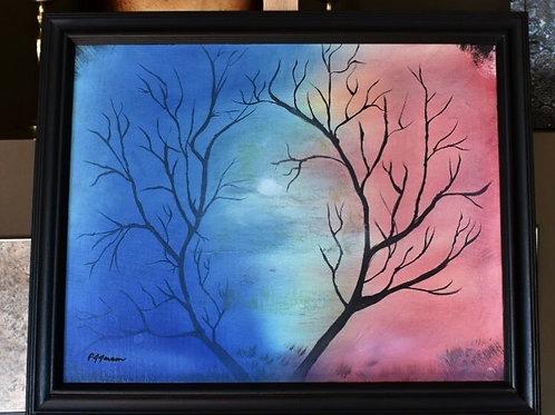 "Misty Moon -Oil Painting 16""x20"""