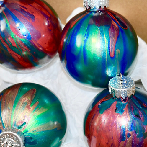 Christmas Ornaments Abstract metallics front view