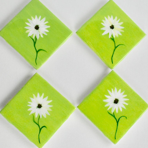Daisy Ceramic Coasters