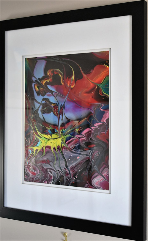 Acrylic Paintings-Thors Universe-18x22 inch 2pc with frames | Art ...