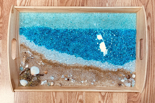 Beach Scene Serving Tray