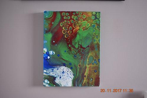 Manifestation 2 -  Acrylic Pour front view