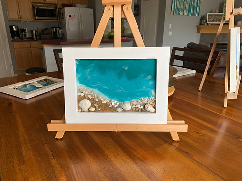 Rocky Beach - Resin Art front view