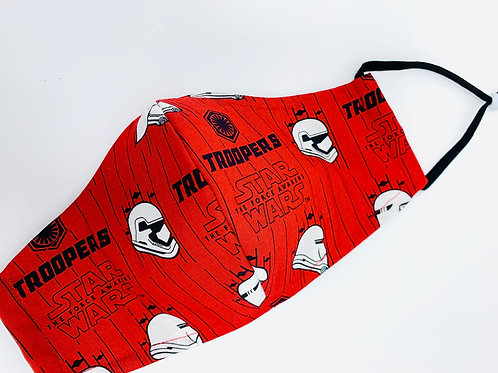 Face Mask - Star Wars Troopers print - Red - front