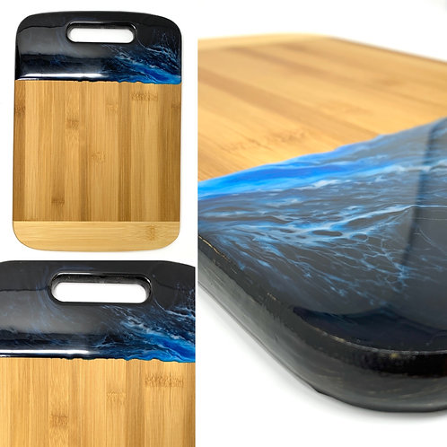 Ocean Waters Bamboo and Resin - Small Charcuterie Board front