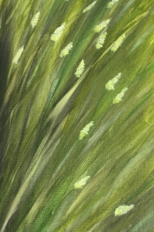 Grasses - Acrylic painting front view
