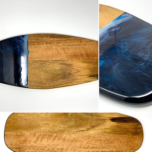 Ocean Blues #4 - Surfboard Style Charcuterie - surfboard multi view