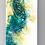 Embellished White- Large Resin Wall art 2 pc set - front view