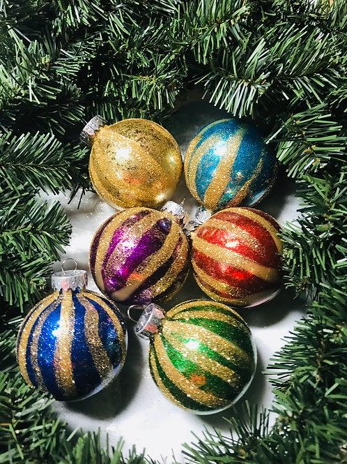 christmas Tree ornaments set of 6