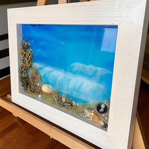 Beach - Resin Art front view