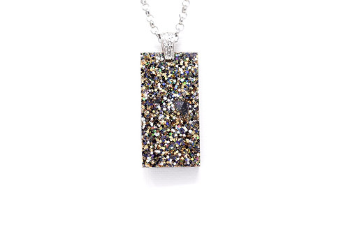 Dark Glitter Pendant Necklace