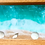 Beach Scene on Wood Panel close up view