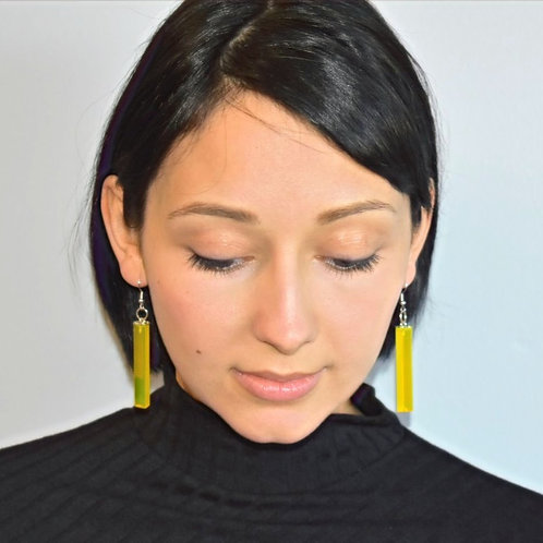 Yellow Danglers - Earrings