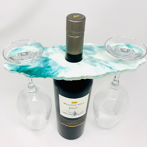 Wine Butler - Teal in White 2  front view
