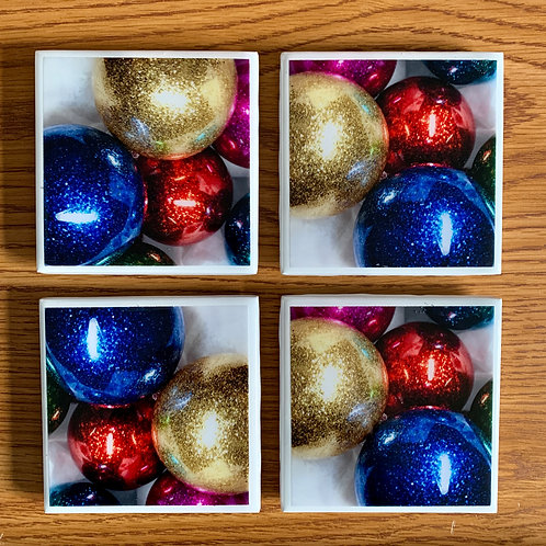 Ornament Coasters - Set of 4 - resin art