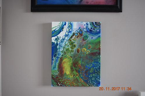 Manifestation 4 - Acrylic Pour front view