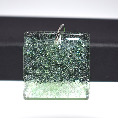 Glass in Resin Pendant front view