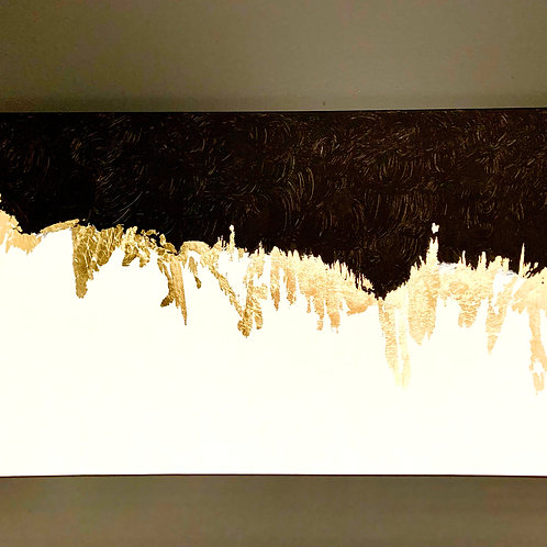 Golden Noise - Textured Abstract with gold gilding