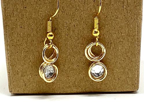 Rhine Stone Wire Wrap Earrings