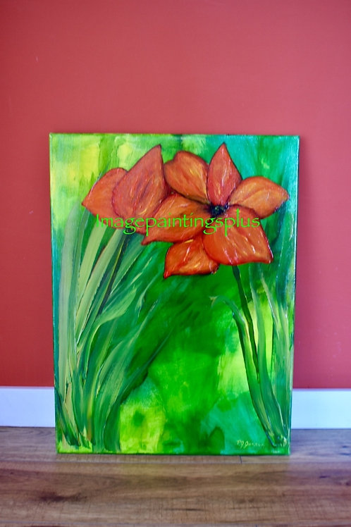 Flower Vibrance - Acrylic Painting front view