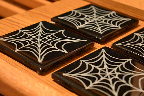 Spiders Web - Coasters-Ceramic front view