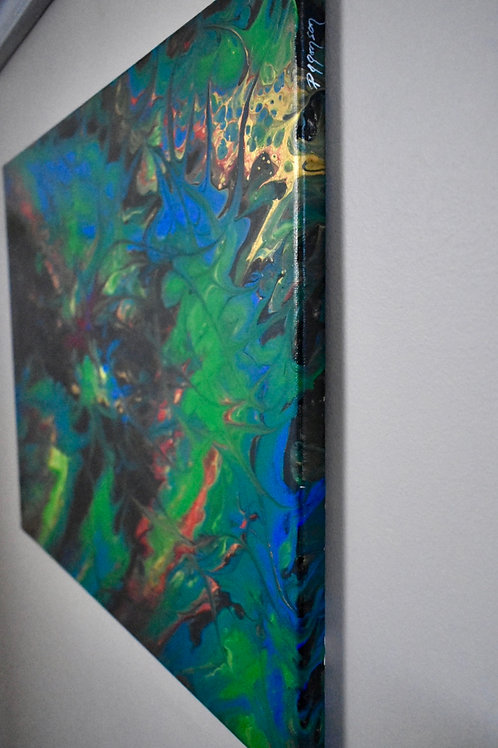 Immix - Modern Art Painting side view