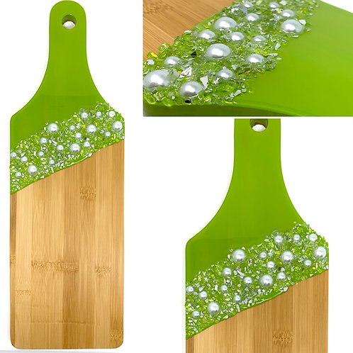 Olive GreenBamboo Charcuterie Board