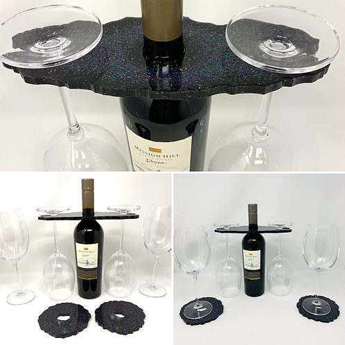 Wine Butler with 2  Matching Coasters Set