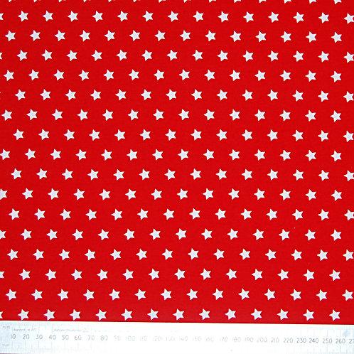 Tricot - rood met sterren