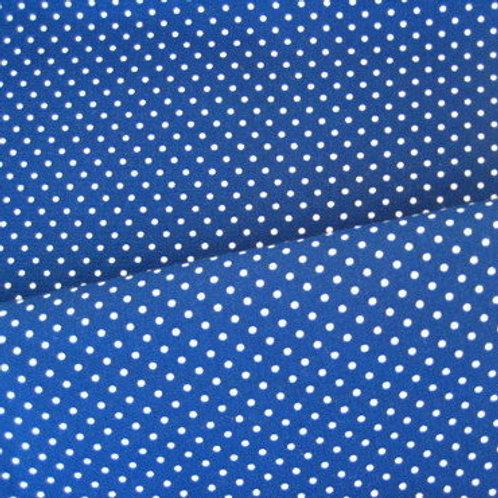 Katoen blauw met stippen