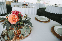 Floral in Silver Compote