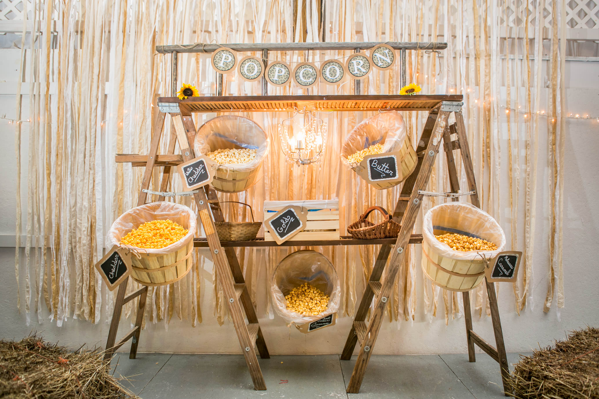 Rustic Chic Popcorn Display