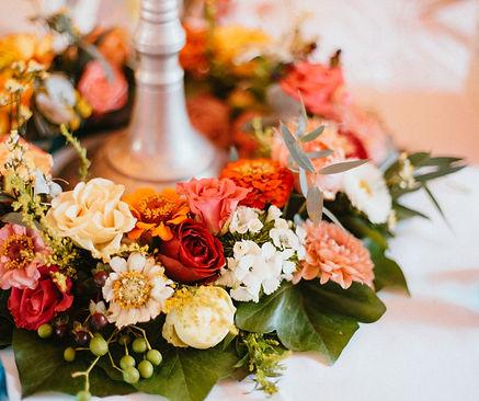 Hochzeitsdeko Blumenkranz