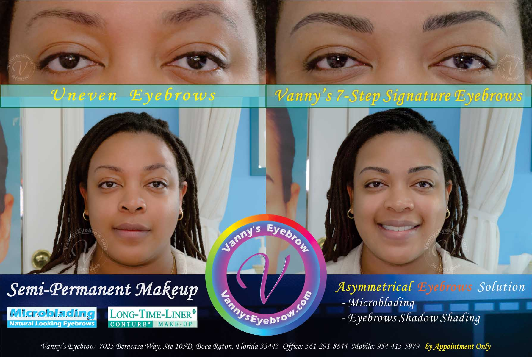 Mild Uneven Eyebrows Solution