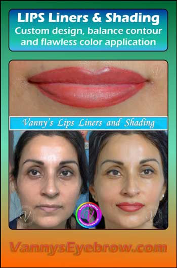 Lips Reshaped with Corrective Permanent Makeup