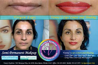Permanent Lips Design Side-by-Side View