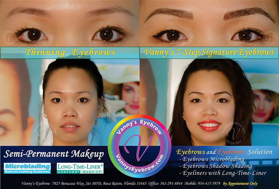 Thin Eyebrow Thickness Correction