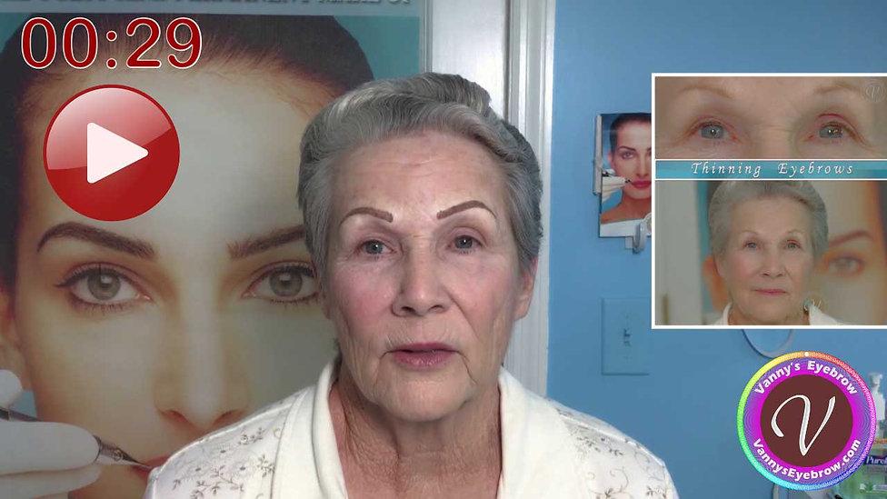 Bald Spot Brow Covering Testimonial