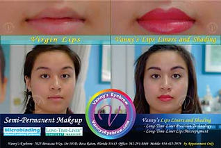 Permanent Lips Coloring Makeup Side-by-Side View