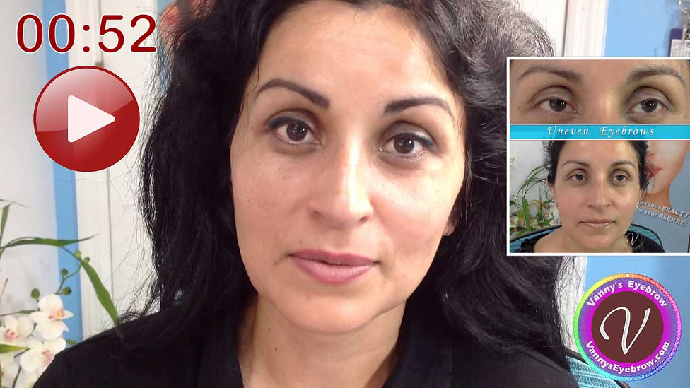 Reshaped Uneven Eyebrows Testimonial