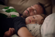 Father and Son Taking a Nap