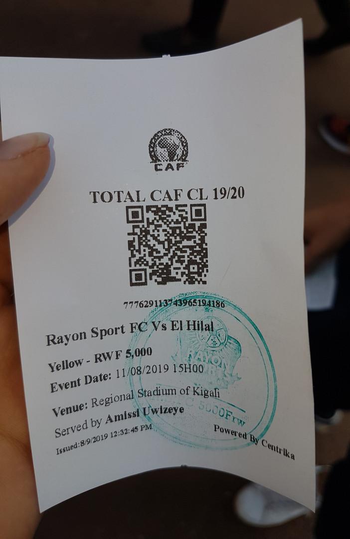 Eintrittsticket zum Stadion