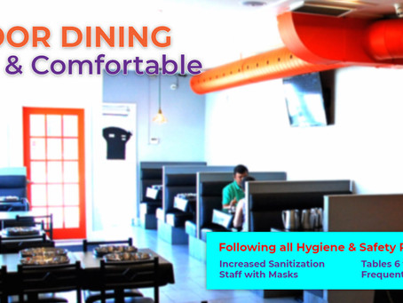 Avsar's Indoor Dining Room is Now Open