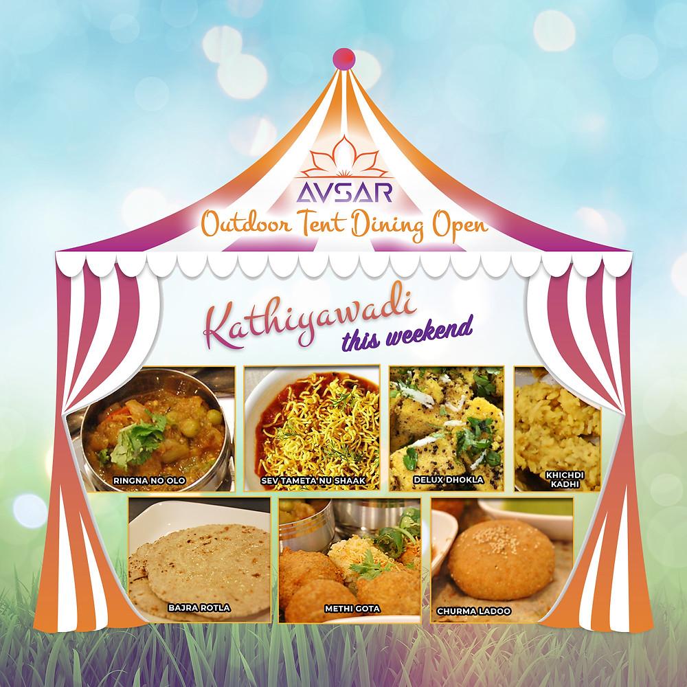 Kathiyawadi Thali in the Tent this weekend