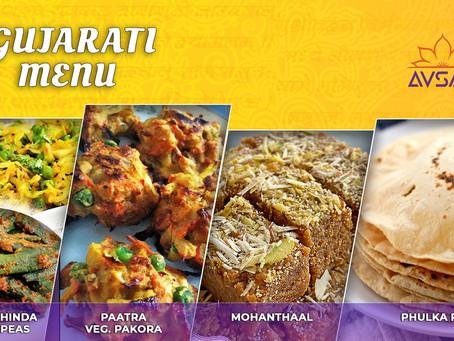 Gujarati Thali Menu - Nov 28 and 29