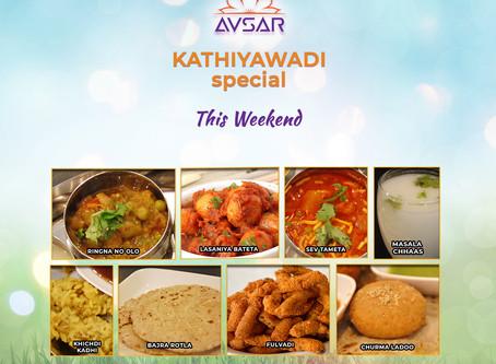 Kathiyawadi Special Thali - Sept 19, 20