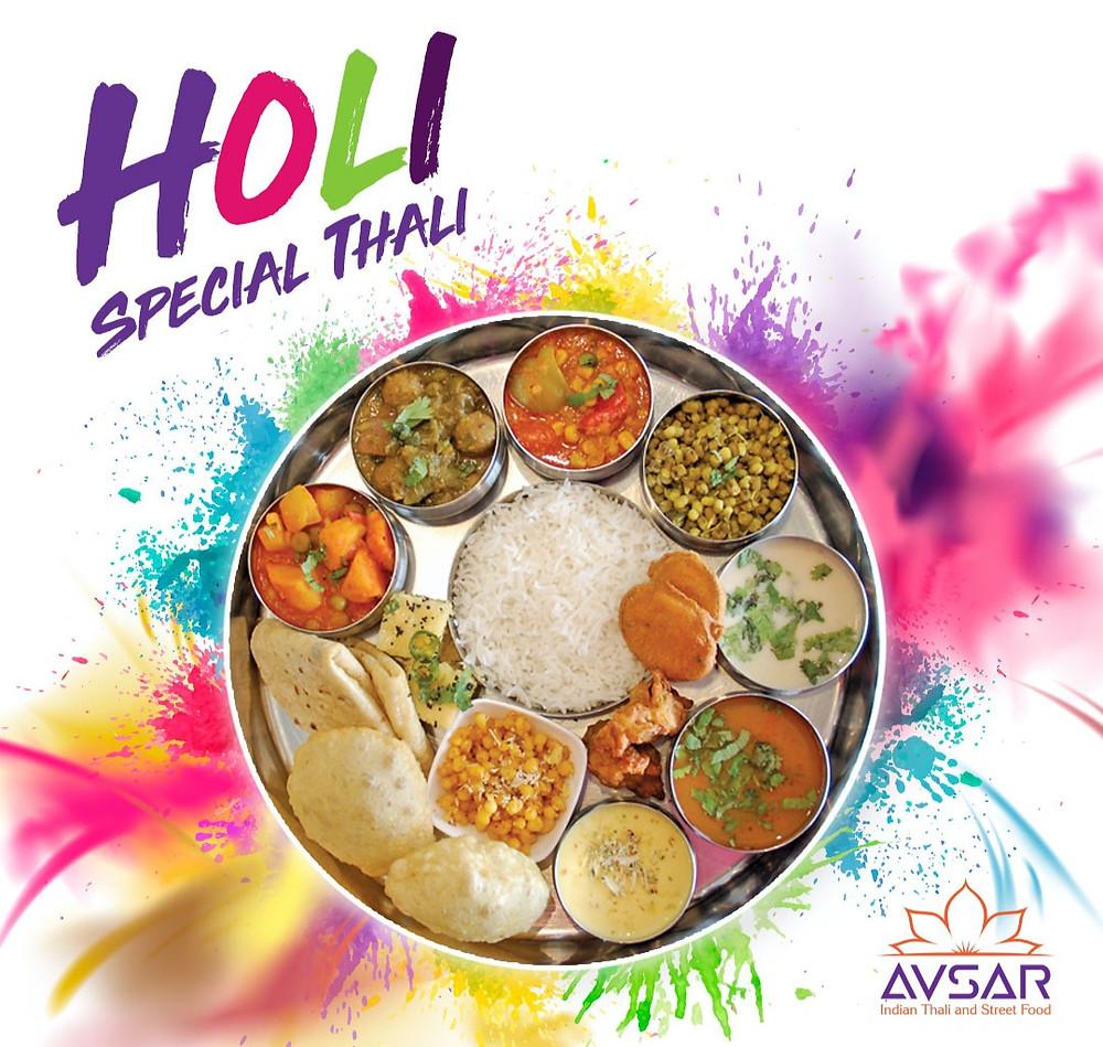 Holi Special Gujarati Thali