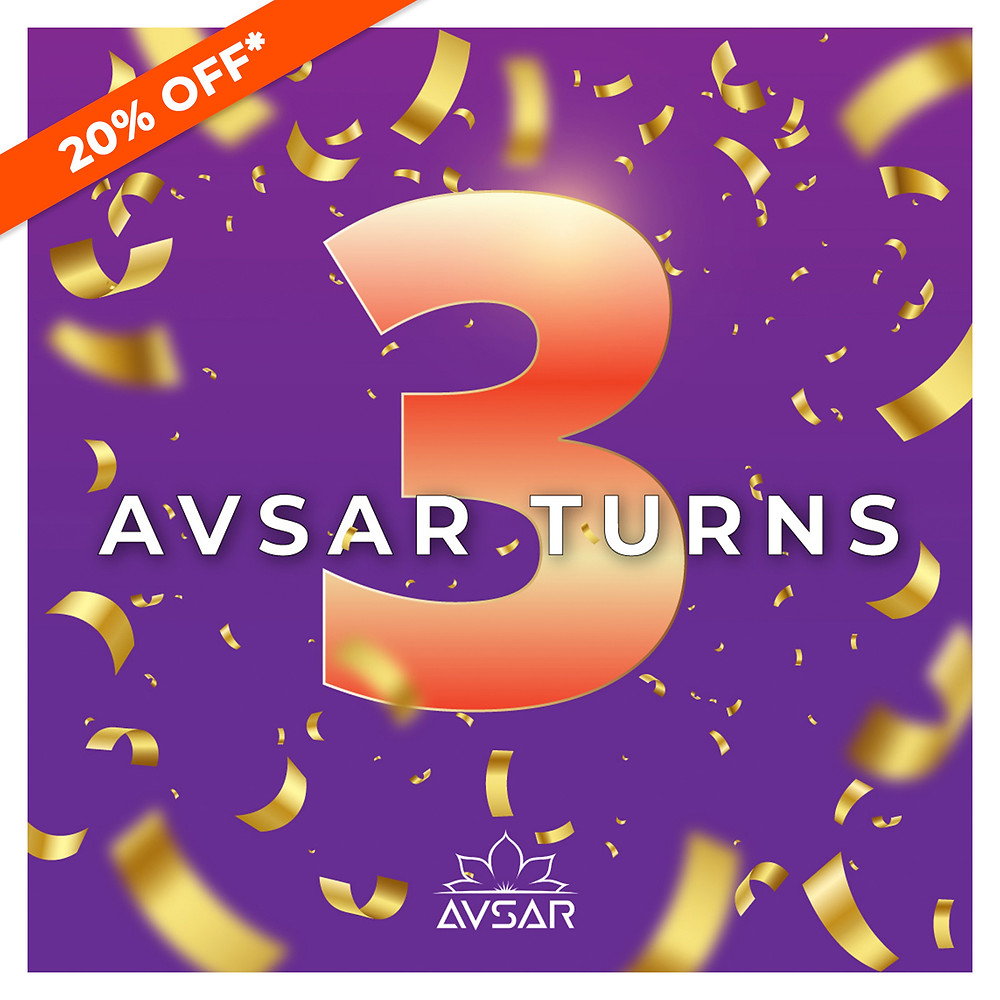 Avsar Turns 3 - Enjoy 20% off