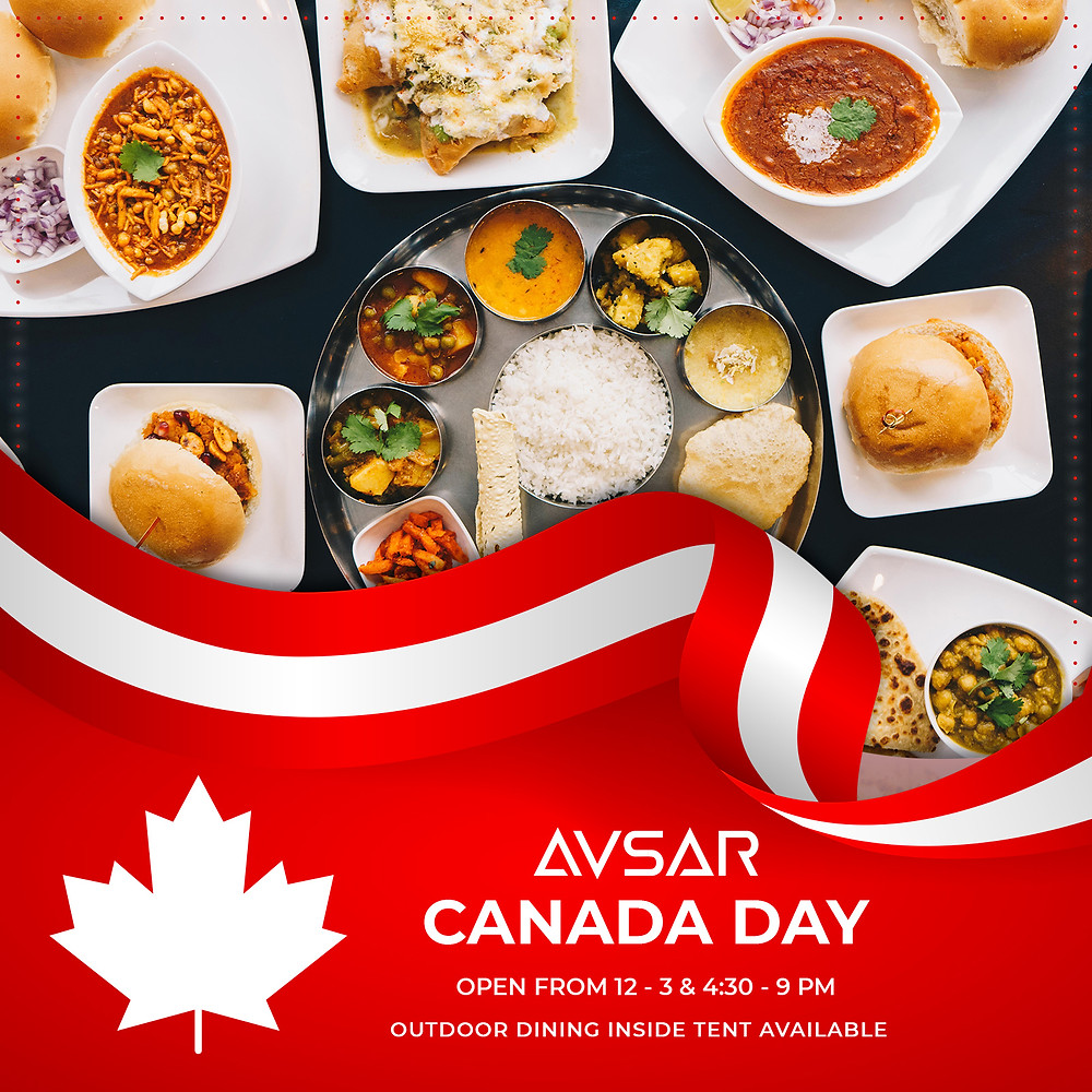 Canada Day lunch and dinner at Avsar inside outdoor tent