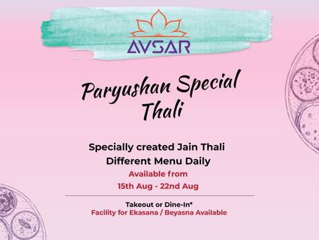 Paryushan 2020 Special Jain Meals - GTA